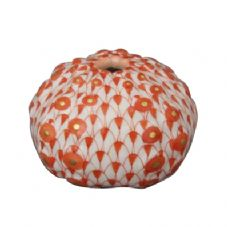 Herend Porcelain Fishnet Figurine of a Sea Urchin